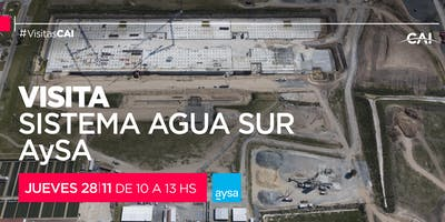 Visita al Sistema Agua Sur de AYSA