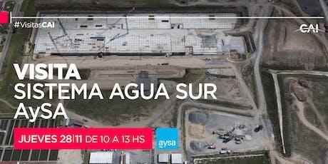 Visita al Sistema Agua Sur de AYSA entradas
