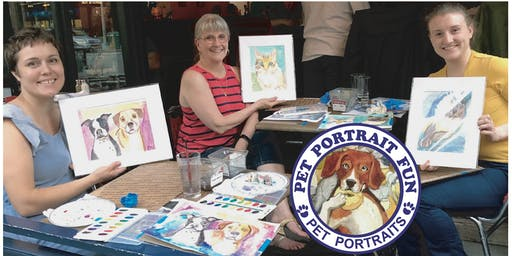 Sip and Paint Your Pet Portrait Fun -Barking Dog NEW YORK