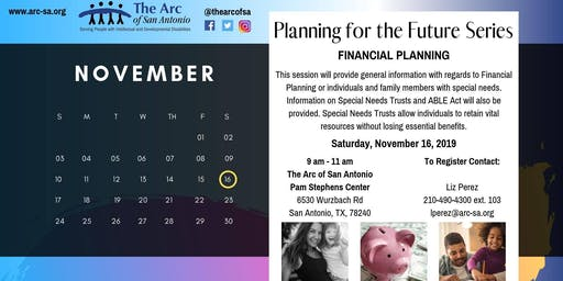 The Arc's Planning for the Future Series- Financial Planning