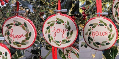 Christmas Embroidery Workshop - Make Your Own Bauble