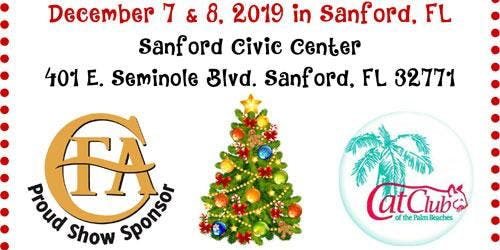 Cat Show Sanford Florida Holiday Event 12/7/19-12/8/19