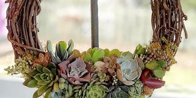 Seated Succulent: Succulent Wreath Workshop
