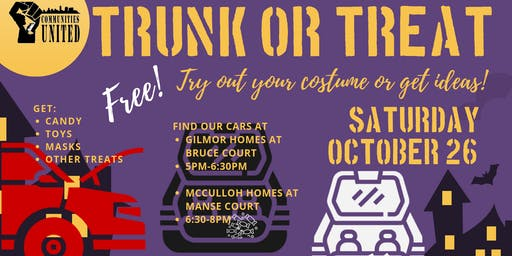 Gilmor and McCulloh Trunk or Treat - FREE!!
