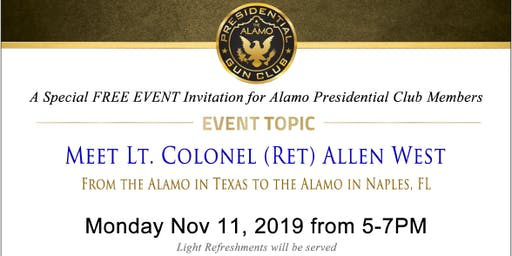 MEET  LT. COLONEL (RET) ALLEN WEST