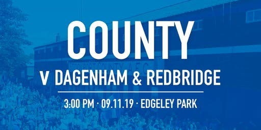 #StockportCounty vs Dagenham & Redbridge