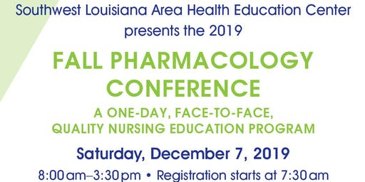 2019 Annual Fall Pharmacology Conference