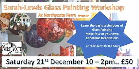 Sarah Lewis Christmas Glass Painting Workshop tickets