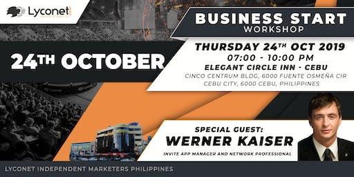 Lyconet workshop with network professional Werner Kaiser - Cebu