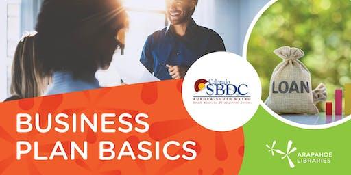Business Plan Basics (REGISTER BELOW)