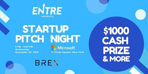Startup Pitch Night - $1000 Cash Prize
