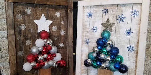 **Sold Out**Ornament Christmas Tree Stone & Pallet™ Eco Art