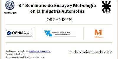 3º Seminario de ensayos y metrología en la Industria Automotriz