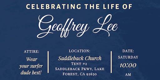 Geoffrey Lee Celebration of Life