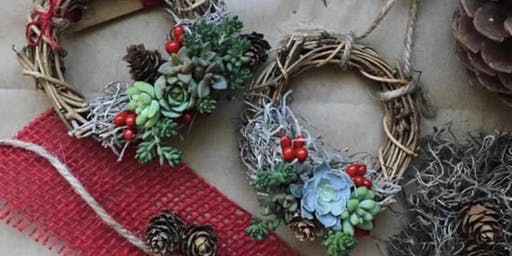 Restorative Yoga and Succulent Wreath Workshop