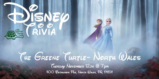 Disney Movie Trivia at The Greene Turtle North Wales