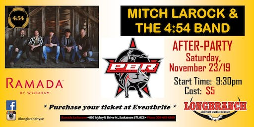 PBR After Party with Mitch Larock & The 4:54 Band