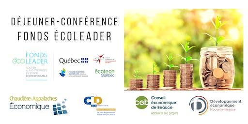 Déjeuner-conférence du Fonds Écoleader