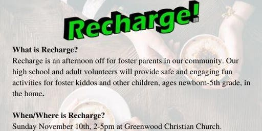 Recharge!-Afternoon of Free Childcare for Foster Families