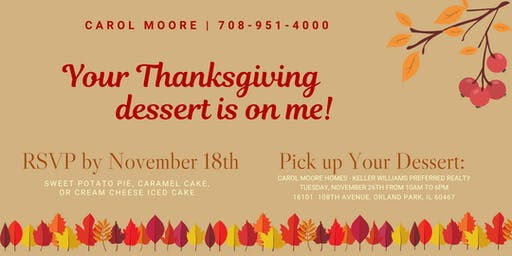 CMooreHomes Presents our Annual Thanksgiving Dessert Giveaway!