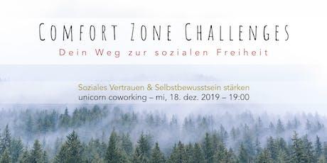 Comfort Zone Challenges // Soziales Vertrauen & Selbstbewusstsein stärken Tickets