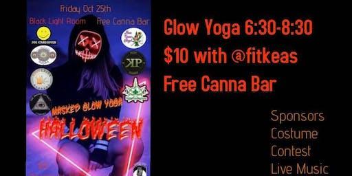 Masked Glow Yoga - Halloween