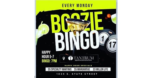 Join us Monday's for Happy Hour and  Boozie Bingo Chicago at Tantrum (No Cover)