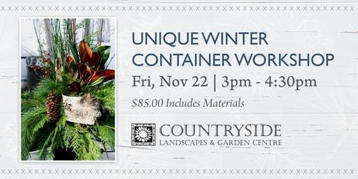 Unique Winter Container Workshop
