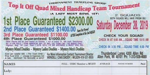 Top It Off Quad Mixed Handicap Team Tournament