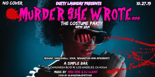 Murder She Wrote... A Costume Party