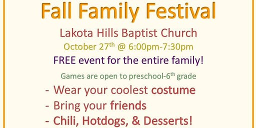 Free Community Fall Family Festival