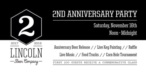 Lincoln Beer Company's 2nd Anniversary Party