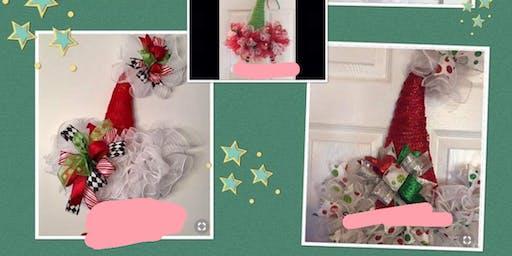 Elf And Santa Wreath Class