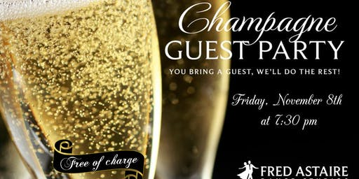 Champagne Guest Party at the Fred Astaire Dance Studio - FREE OF CHARGE!