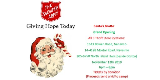 The Salvation Army Nanaimo Thrift Stores Grand Opening Santa's Grotto