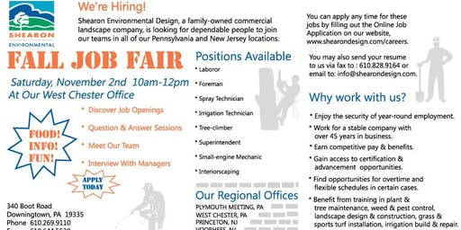 Landscape Job Fair Hiring Event
