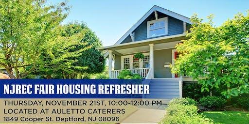 NJREC Fair Housing Refresher