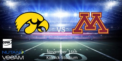 Join CDW, Veeam  & Nutanix watch the Hawkeyes  take on the Gophers!