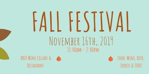 2019 Fall Festival at BRIX Wine Cellars & Restaurant