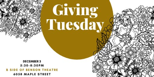 Giving Tuesday at the Benson Theatre