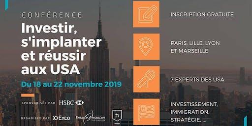 LILLE • Conférences Novembre 2019 : S'implanter & Investir aux USA