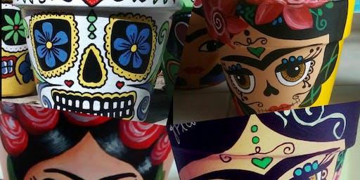 Celebrate Dia de Los Muertos con arte y cultural! Paint Party!