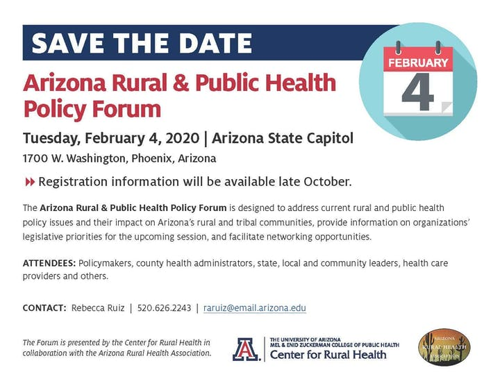 Phoenix Events February 2020.Arizona Rural And Public Health Policy Forum Registration