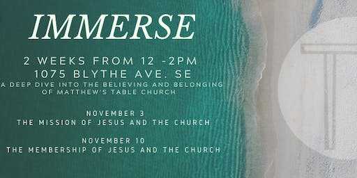 IMMERSE: A 2 Week Deep Dive into the Vision of Matthew's Table Church