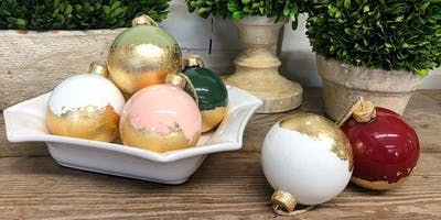 Ladies Night! Holiday DIY- Gold Leaf Ornaments (Perkins/Highland)