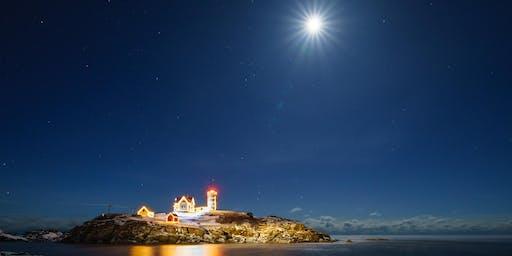 Moonrise at Nubble Light