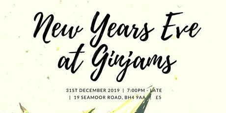 Ginjams New Years Eve Party 2019 tickets