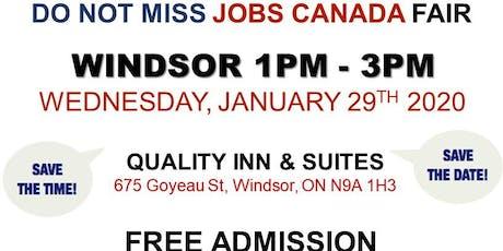 Windsor Job Fair – January 29th, 2020 tickets