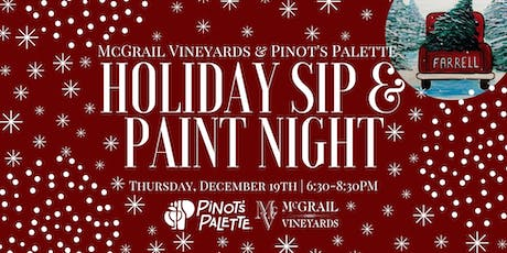 SOLD OUT - Pinot's Palette Holiday Sip & Paint Night at McGrail Vineyards tickets
