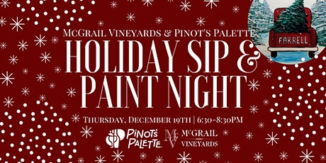Pinot's Palette Holiday Sip & Paint Night at McGrail Vineyards tickets